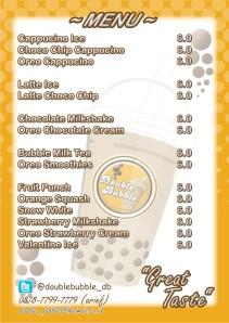 Double Bubbledrink menu 2012
